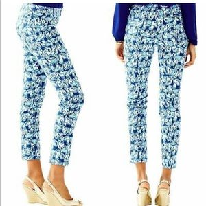 Lilly pulitzer size 2 kelly ankle pants 🐘
